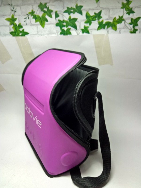 Lunch cooler bag with cooler commpartment /carrying handle