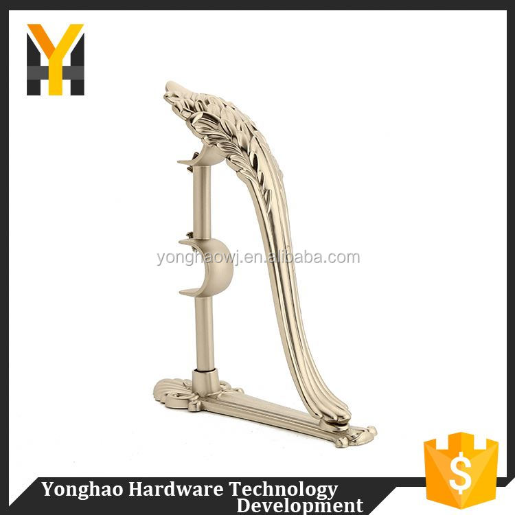 Elegant style luxury rod iron curtain bracket