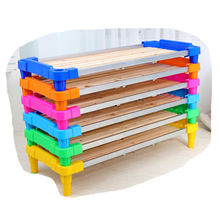 Used preschool furniture colorful low baby cot crib kindergarten stretcher