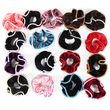 High quality 100% Polyester Velvet Elastic <strong>Hair</strong> Ropes Scrunchie Ponytail Donut Grip Loop Holder Stretchy <strong>Hair</strong> <strong>Accessories</strong>