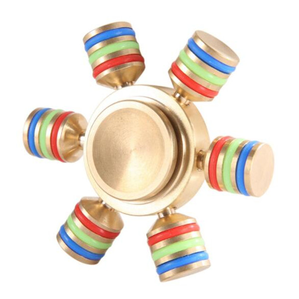 In Stock Tri-Spinner Metal Fidget Toy EDC Hand Spinner coin tri-spinner fidgets toy Customized 200% quality assurance