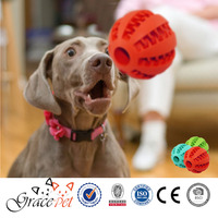 Popular dog training rubber ball toys for dog