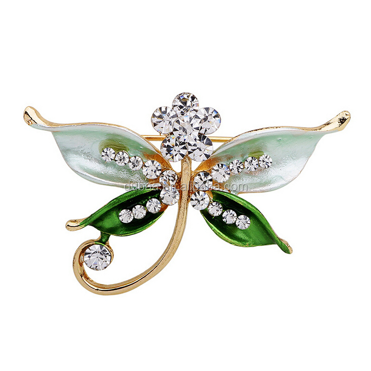 2016 NEW Dargonfly Butterfly Crystal Rhinestone Brooch Pin Wholesale Wedding Gift Brooches