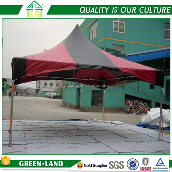 Cheapest Aluminum Tent Profile Gazebo Tent 6x6M Red & Black Roof