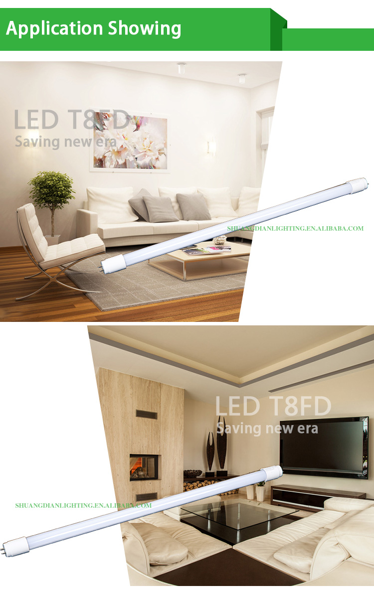 led tubes t8 lamp replacing the 40w fluorescent lamp tube compatible with inductive