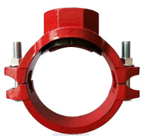 FM&UL approved ductile iron grooved fittings/rigid grooved coupling/tee/elbow/mechanical tee