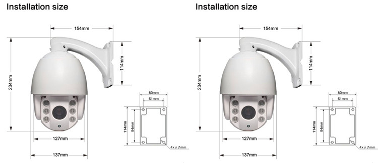 2016 new 4 inch 1.3 Megapixel 60m IR waterpoof mini speed dome CCTV full HD IP camera