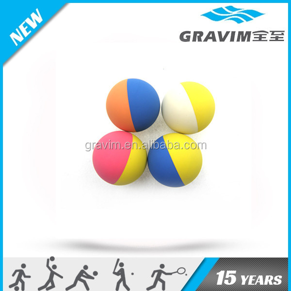 2015 custom logo double color hollow 60mm rubber high bouncing ball