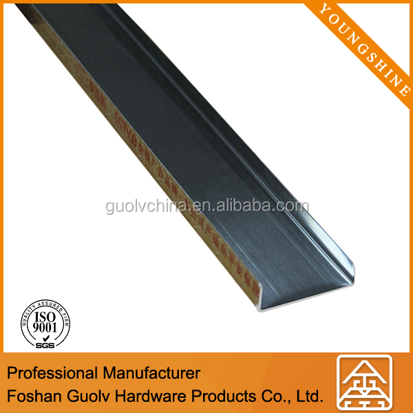 China stainless steel square ceramic metal tile trim profile in promotion