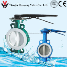 wafer handle PTFE lined shut-off Butterfly control Valve