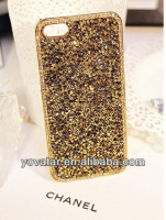 Deluxe Elegant Shiny Bling Gold Diamond Crystal Case Cover For iPhone 5 5S