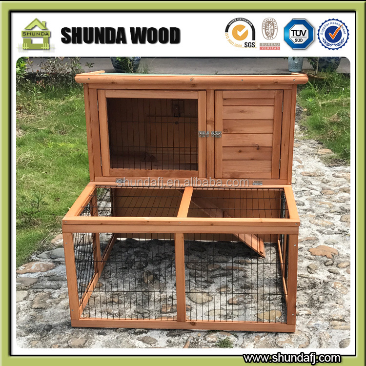 SDR02 wooden wholesale rabbit hutches with tray