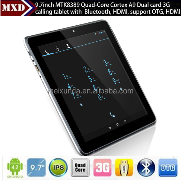 "9.7"" android tablet pc MTK8389 tablet 10"" wifi 3g/Bluetooth"