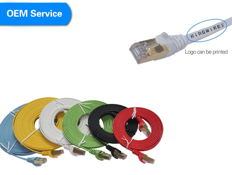 High-speed Network LAN Cable Cat7 SSTP RJ45 Internet Flat Cable 3M 10M 15M