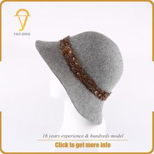 korean peruvian women men custom wide brim blank woolly top hat felt head cover for winter