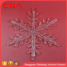 Fashion snowflake shape polyresin crafts for Christmas decoration