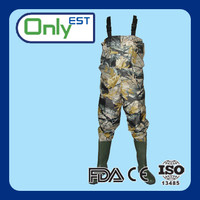 High quality customized good breathable camouflage fishing waders pants