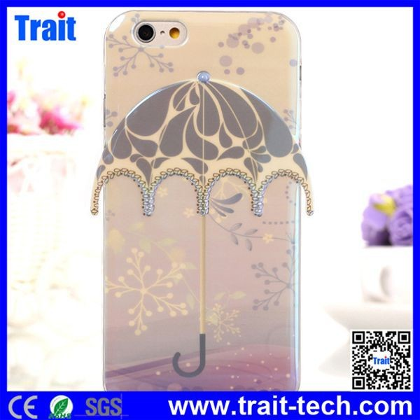 Umbrella Design Blue-ray Flexible TPU Back Cover Case for iPhone 6 4.7 inch