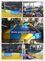 colorful kids play water inflatable rectangular pool