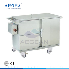 For deliverying meals with heat preservation by electric heating food warmer trolley