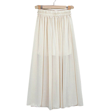 pure white chiffon ankle length pants ladies office skirt suit