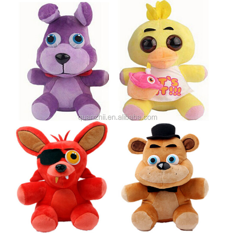 Five Nights At Freddy's 4 FNAF Bonnie Foxy Freddy Fazbear Bear Plush Toys Doll for children