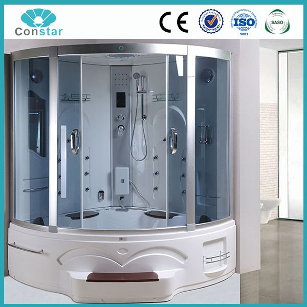 1.5 meter big large size whirlpool shower cubicle