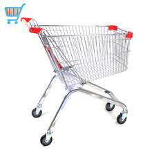 60-240l factory directly supply cart metal shopping mall child's 4 wheel grocery supermarket shopping trolley