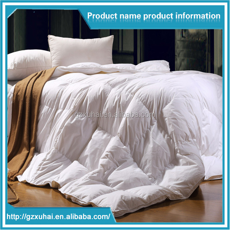 Hotel Use White Color Microfiber Polyester/Cotton Season Quilt Single/Double/Queen/King Size
