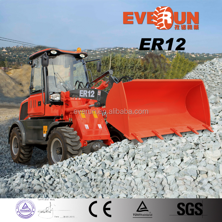 Everun ER12 small garden tractor price mini Backhoe Loader for sale