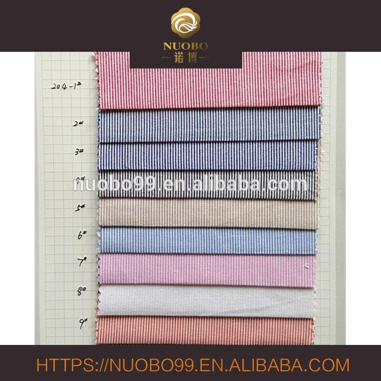 100% cotton toothpick stripe fabric for shirt