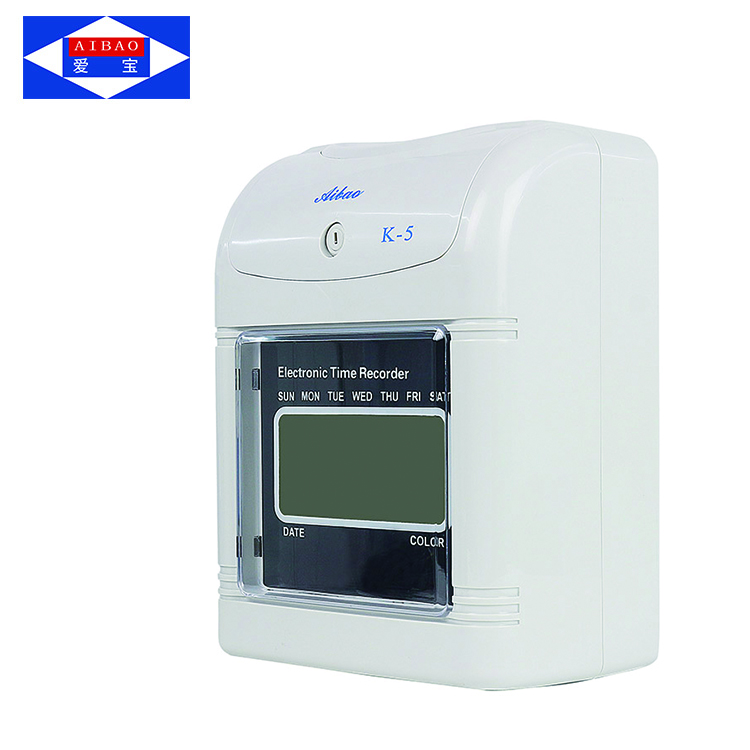 Portable employee card punch Time recorder Attendance machine