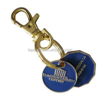 Whole sale Blue token coin wiht soft enamel