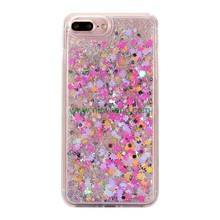 Free Sample Glitter Stars Quicksand Hard PC+TPU case phone cover For iPhone 8
