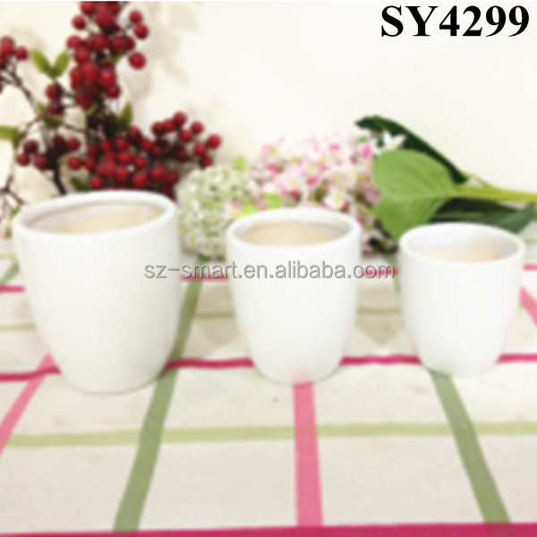 Pot for flower small lightweight ceramic circular plant pot wholesale