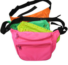 Small MOQ Colorful fanny packs, Customized waist bag with Logo for Promotion