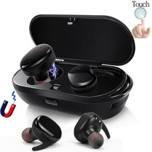 2018 Bluetooth in-ear Headphones Stereo Sport Wireless Earphones Waterproof Mini Bluetooth Earbud with Charging Case