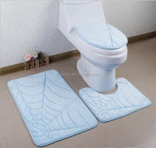 door mat china factory Wholesales bathroom mat three piece suit toilet