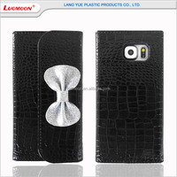 Customized alligator pattern PU leather wallet phone case for samsung galaxy fame/nexus/discover