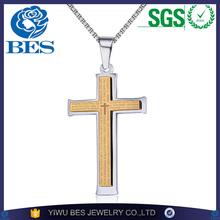 Brand Fashion Stainless Steel Bible Cross Necklace Men Prayer Cross Necklaces & pendants collier Jewelry Lovers Gift 3 Colors