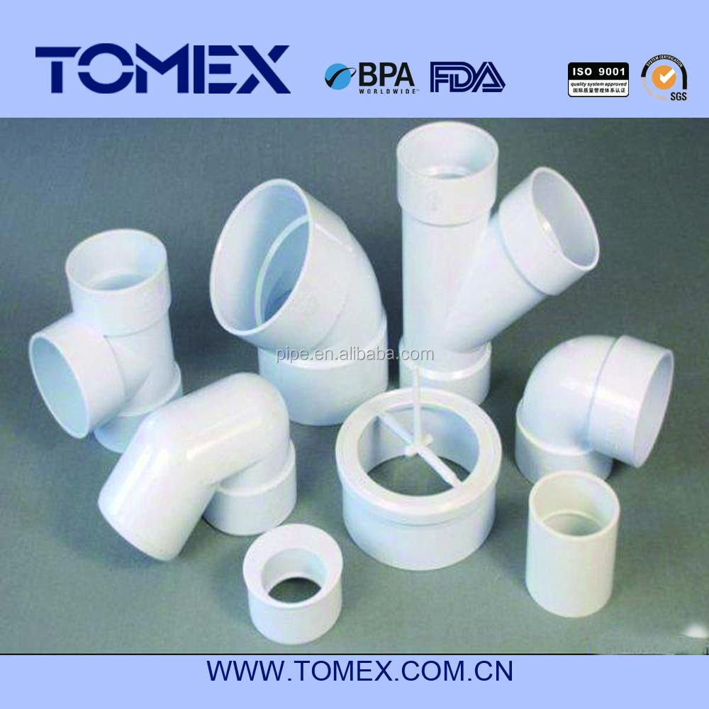 ASTM DWV PVC pipe and fittings 4 inch dia PVC Wye Fitting