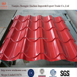 Colour coated corrugated metal roofing sheets
