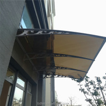 Easy assembly strong aluminium awning for cars with polycarbonate solid sheet