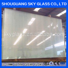 Tempered glass factory high quality white ceramic fritted tempered glass price