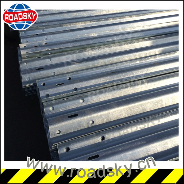 Customized Two Waves Galvanized Metal Guard Rails
