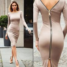 zm11179a Fashion long sleeve hot style lady dress europe slim woman dress