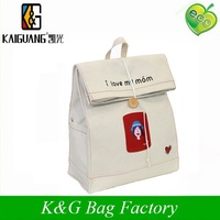 High quality cotton canvas school bag cotton backpack for sell