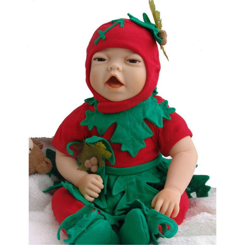 high quality reborn baby dolls/baby dolls 24 inch/robot baby doll silicone