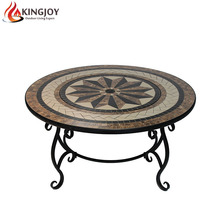NEW! 30'' table fire pits with ceramic top, flower legs