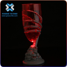 christmas Hot sale bar accessories party favor Liquid induction Glass Led Flashing cup light up glowing LED cup